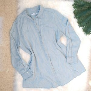 FOXCROFT NYC Cici Tunic in Tencel Chambray Size 16